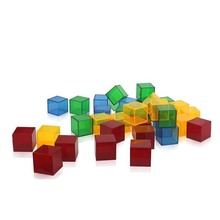 Children Montessori Transparent Blocks Cube Educational-Toys Gifts Kids 18pcs Coloful