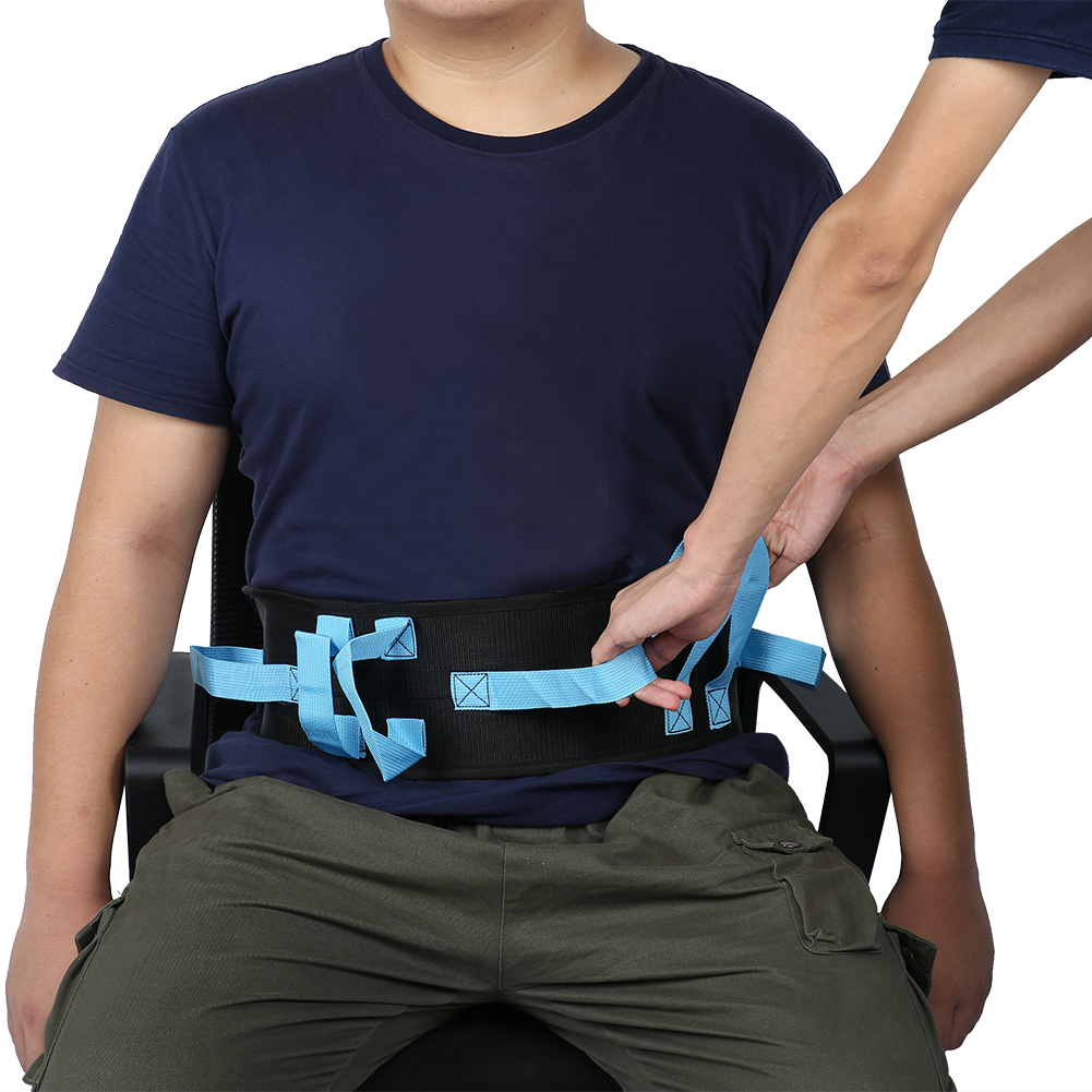 Gait Belt Transfer & Walking Moving Tool Medical Nursing Safety Gait Assist Device With Hand Grips Quick-Release Buckle Patient