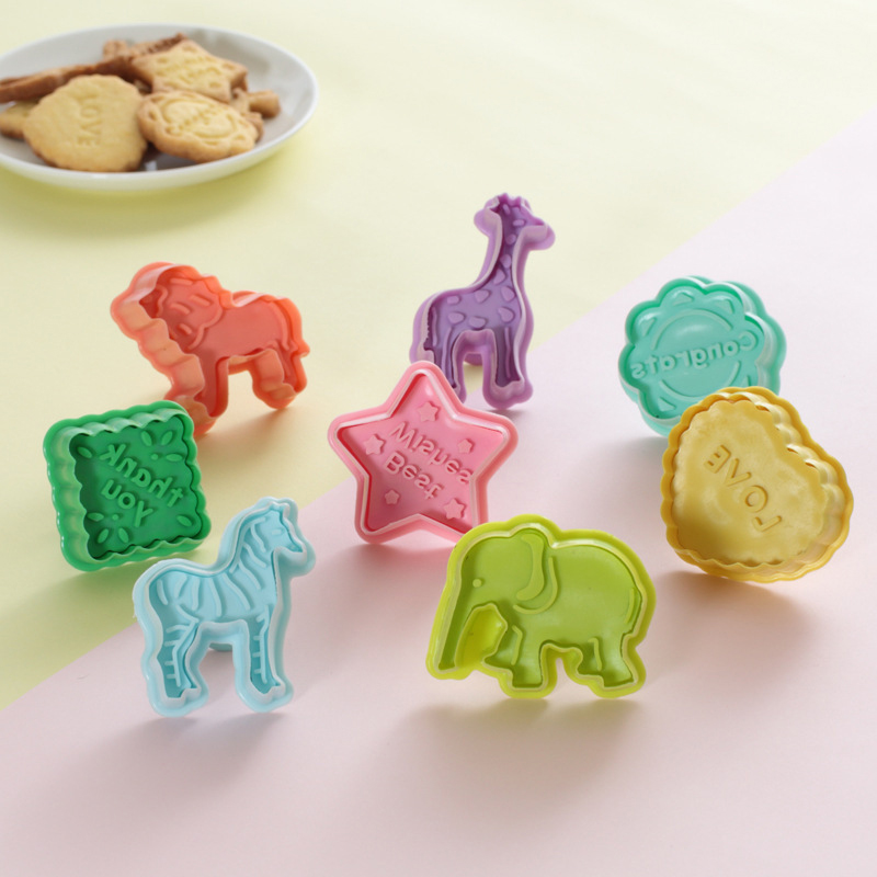 4Pcs DIY 3D Animal Vegetables Fruit Plasticine Slime Mold Tool Set Kit Ability Play Dough Clay Educational Toy For Chidlren Gift