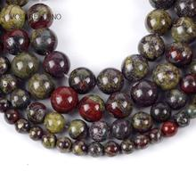цена Natural Dragon Blood Stone Round Loose Beads For Jewelry Making 4-10mm Spacer Beads Fit Diy Bracelet Necklace 15'' Strand в интернет-магазинах