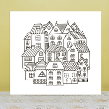 AZSG Creative building Clear Stamps For DIY Scrapbooking/Card Making/Album Decorative Rubber Stamp Crafts