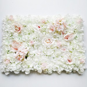Image 4 - 60*40CM Artificial Flowers Wall Hanging Flower Head Silk Rose Floral For Wedding Backdrop