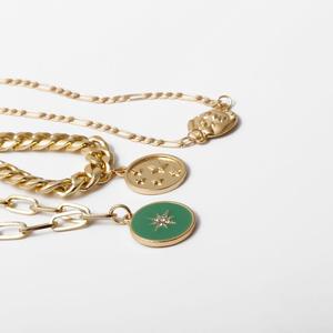 KMVEXO Punk Multilayer Rot Herz Kristall Halskette Set für Frauen Mädchen Hip Hop Geometrische Choker Kette Halsketten 2020 Schmuck Geschenk