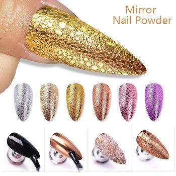 Złoty Sliver proszek do paznokci dający lustrzany efekt Shimmer Glitter Powder manicure paznokci chromowane artystyczne Pigment pyłu dekoracji DIY Nail Art Accessorie tanie i dobre opinie 1 Box Paznokci brokat 49523