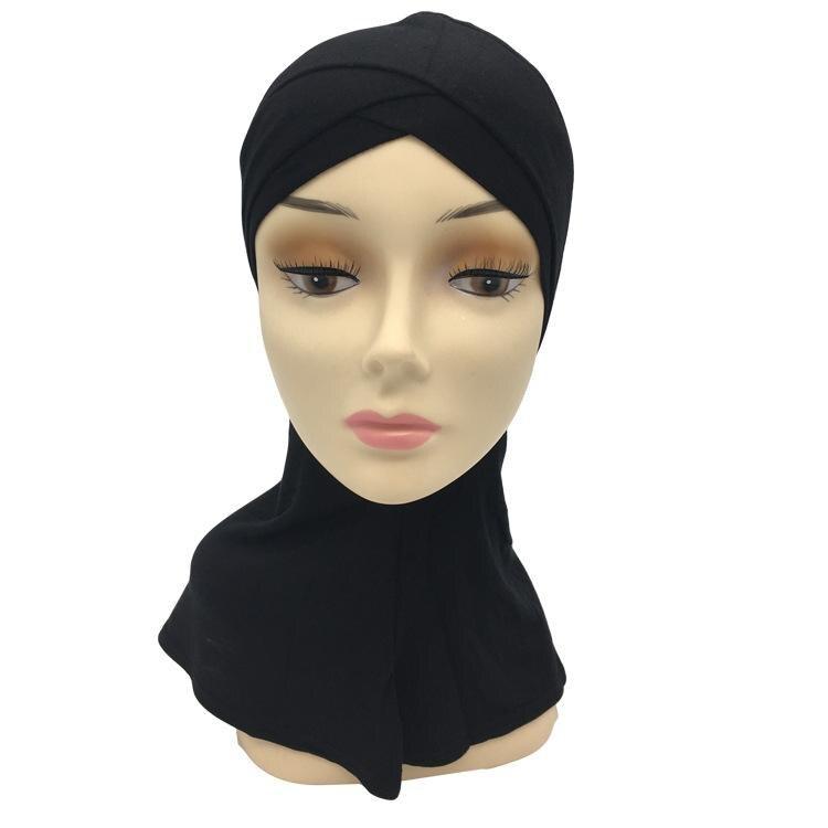 Muslim Women Underscarf Cap Soft Bonnet Ninja Hijab Hat Neck Cover Headwrap Arab