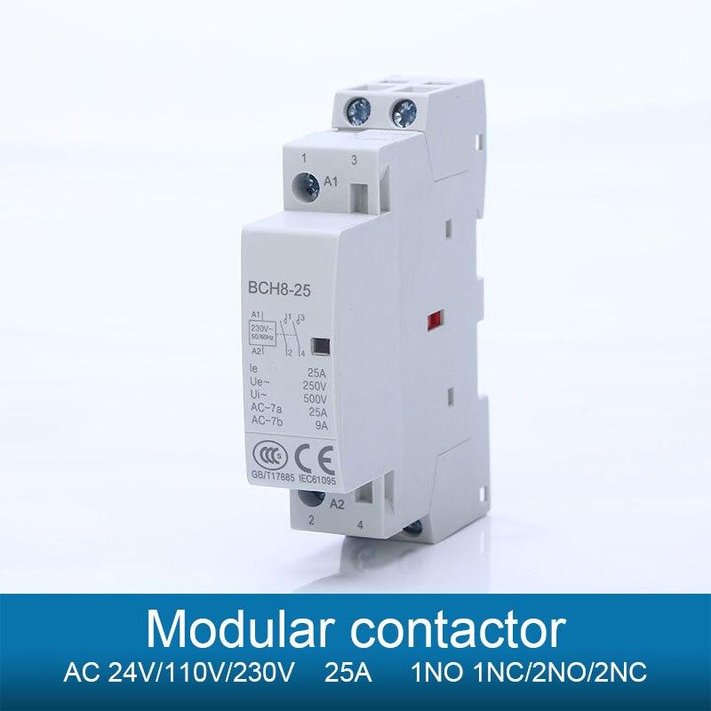 Профиль модульный ac контактор для дома 1NO 1NC 2NO 2NC 24V 110V 230V 240V