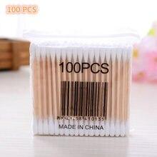 100 штук натуральная мягкая сумка одноразовые деревянные палочки