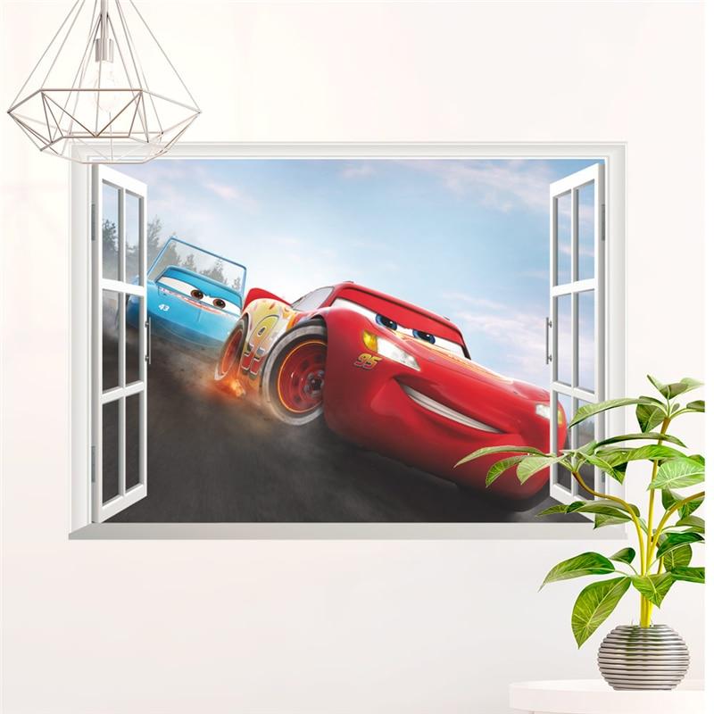 New Mcqueen Cars wall stickers children//kids bedroom mural Sticker