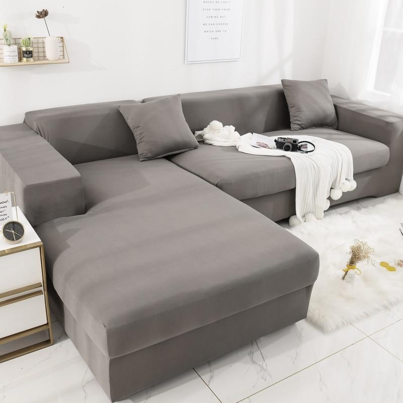 L Shape Sofa Covers Sectional Sofa Cover  Stretch Sofa Slipcovers For L-Shape Couch Sofa Cover Stretch Dark Gray Green Purple