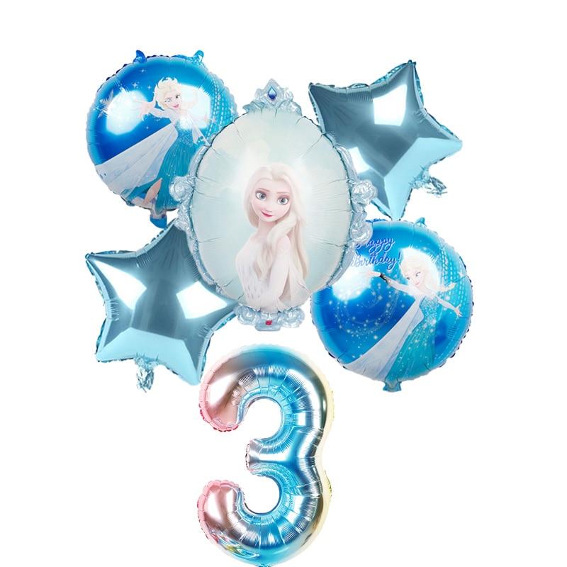 Balões de hélio frozen disney, balões de princesa de 32 polegadas, de número de chá de bebê, meninas, decorações de festa de aniversário, brinquedos infantis