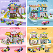 1049pcs City Friends Tree House Building Blocks Compatible Girls Stacking Bricks Figures Dolls Cars DIY Toys for Girls Gifts