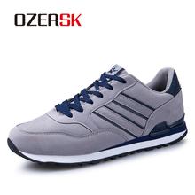 OZERSK Big Size marka mężczyźni obuwie moda oddychające buty dla mężczyzn tanie płaskie buty mężczyźni wkładane mokasyny buty mężczyźni Sneakers tanie tanio CN (pochodzenie) Krowa Zamszu RUBBER SA231117 Lace-up Pasuje prawda na wymiar weź swój normalny rozmiar Podstawowe Stałe