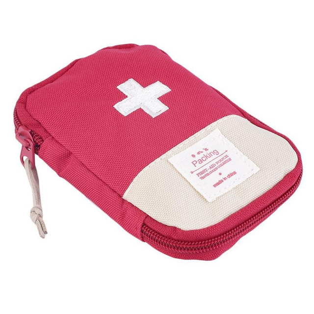 Outdoor First Aid Emergency  Bag Medicine Drug Pill Box Home Car Survival Kit Emerge Case Small 600D Oxford Pouch