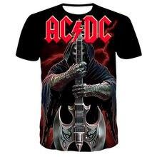 Tshirts dos homens ac dc 3d impresso verão marca camiseta moda masculina novo estilo t camisa engraçado lazer tshirt