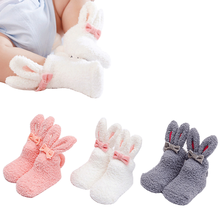 New baby children's floor socks cartoon warm fleece boys and girls baby foot sock