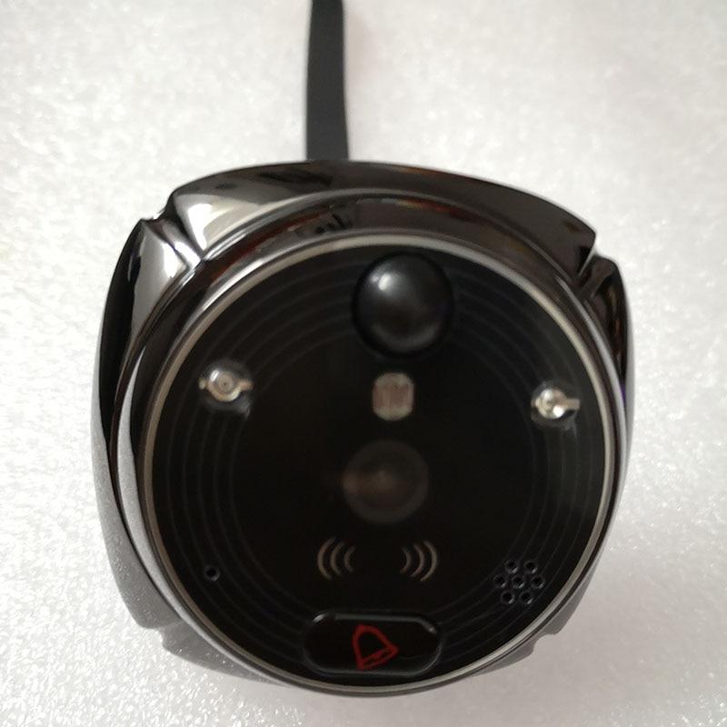 Купить с кэшбэком ROLLUP iHome4 WiFi Peephole Door Camera Door bell Only Video IP Doorbell IR Night Vision PIR Motion Detection Video SMS Alarm