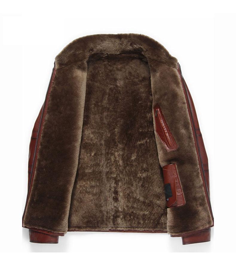 H2c9d8e9f1c0d4649856c3a23d132faf4I Men Genuine Leather jackets Brand 2019 New Men Wool Liner Winter Warm Coats Luxury Male Cow leather Outerwear