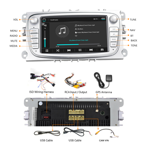 """Image 4 - Hikity 2 din Car Radio 7"""" Android 8.1 Car Multimedia Player GPS WIFI  Autoradio IOS Android Mirrorlink for Ford Focus Car Stereo"""