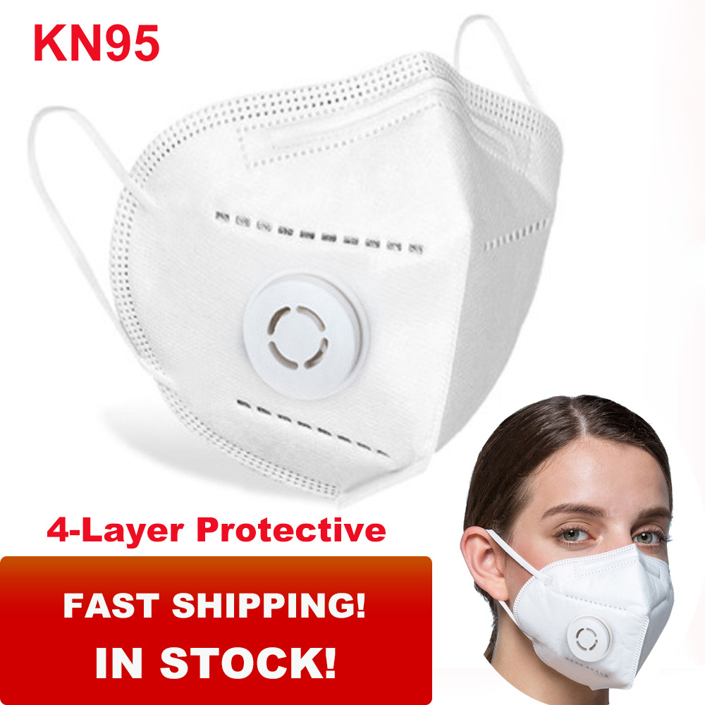 15Pcs KN95 Mouth Mask Anti Bacterial Anti Dust N95 Mask 4-Layer Protective Filtration PM2.5 Dustproof KN95 Face Mask Health Care