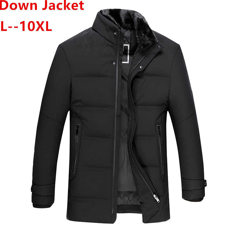 PLUS 10XL 8XL 6XL Winter Jacket Men 90% White Duck Dow Jacket Thick Keep Warm Men Down Jacket Fur Collar Dow Jackets Coat Male