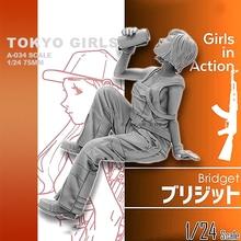 Набор из смолы для девочек и солдат, набор из смолы серии Tokyo Beauty Girl Soldier (75 мм), самособранный, 1/24