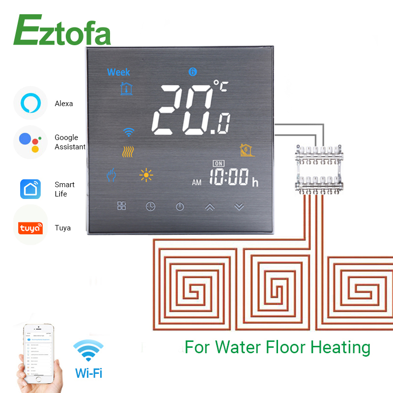 WiFi Smart Thermostat Programmable Temperature Controller For Water Heating Smart Life Tuya APP Works With Alexa Google Home