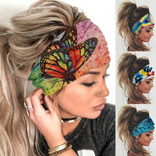 Mulheres Meninas Verão Boho Impressão Headband Do Faixas de Cabelo Bandanas Turbante Bandagem Cruz Boêmio Acessórios Para o Cabelo Headwrap Headwear Presente