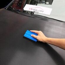 1 PC รถไวนิลฟิล์มห่อเครื่องมือ Blue Scraper ไม้กวาด Felt EDGE ขนาด 10 ซม.* 7 ซม. จัดแต่งทรงผมสติกเกอร์อุปกรณ์เสริม