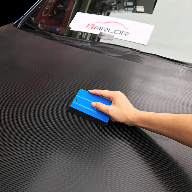 1pc Car Vinyl Film wrapping tools Blue Scraper squeegee with felt edge size 10cm*7cm Car Styling Stickers Accessories