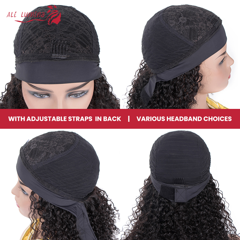 Wigs Headband Wig Kinky Curly Wig Glueless Affordable   Hair Beginner Friendly Full Machine Made Wig 4