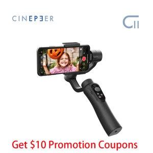 Image 1 - Goedkope Zhiyun Cinepeer C11 Gimbal Voor Smartphone Iphone/Samsung 3 Axis Handheld Stabilizer Vs Smooth Q2 4 Vlog pocket Moza Mini S