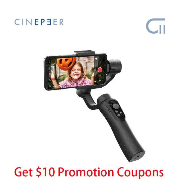 Goedkope Zhiyun Cinepeer C11 Gimbal Voor Smartphone Iphone/Samsung 3 Axis Handheld Stabilizer Vs Smooth Q2 4 Vlog pocket Moza Mini S