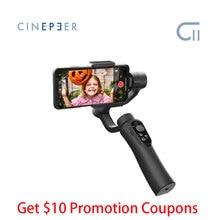 Zhiyun cardán de mano CINEPEER C11 para teléfono inteligente iPhone/Samsung, estabilizador de mano de 3 ejes VS smooth q2 4 vlog pocket moza mini s