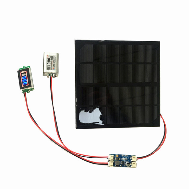6V 3W 9V 2W 12V 2W 3W Solar panel with Solar min battery charger with battery display DIY KIT PH 2.0 Cable