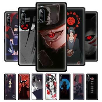 Перейти на Алиэкспресс и купить Itachi Uchiha Naruto аниме черный силиконовый мягкий чехол для SONY Xperia 1 10 II 5 L4 чехол для телефона