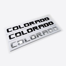 1pc chrome preto colorado palavra caminhão do carro carta etiqueta fender lado 3d emblema emblema decalque acessórios de automóveis