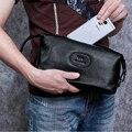 Wmnuo Handtaschen Männer Verlässt Echtem Leder Kupplung Brieftasche Für Männer Kuh Leder Mode Männlichen Tasche Designer Ipad Telefon Tasche Karte halter