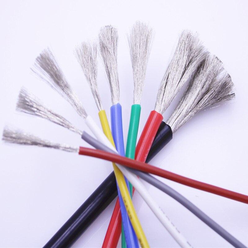 бесплатная доставка10 метров мягкая силиконовая проволока 16AWG 10 11 12awg 13 14 15 17 18 20 22 24awg термостойкий 200 ° морозостойкий кабель -60 °