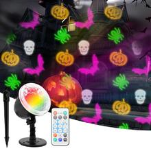 LED Halloween Party Theme Series Projector Light with Remote Control