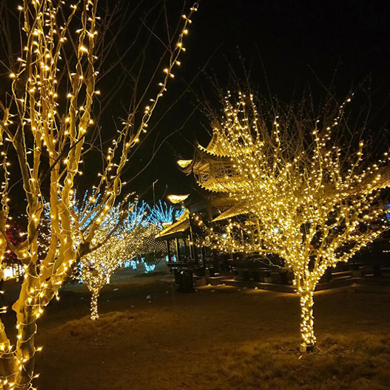 Image 3 - 50M/400 100M/600 LED Fairy LED String Light Outdoor Waterproof AC220V Holiday String Garland For Xmas Christmas Wedding Party-in LED String from Lights & Lighting on
