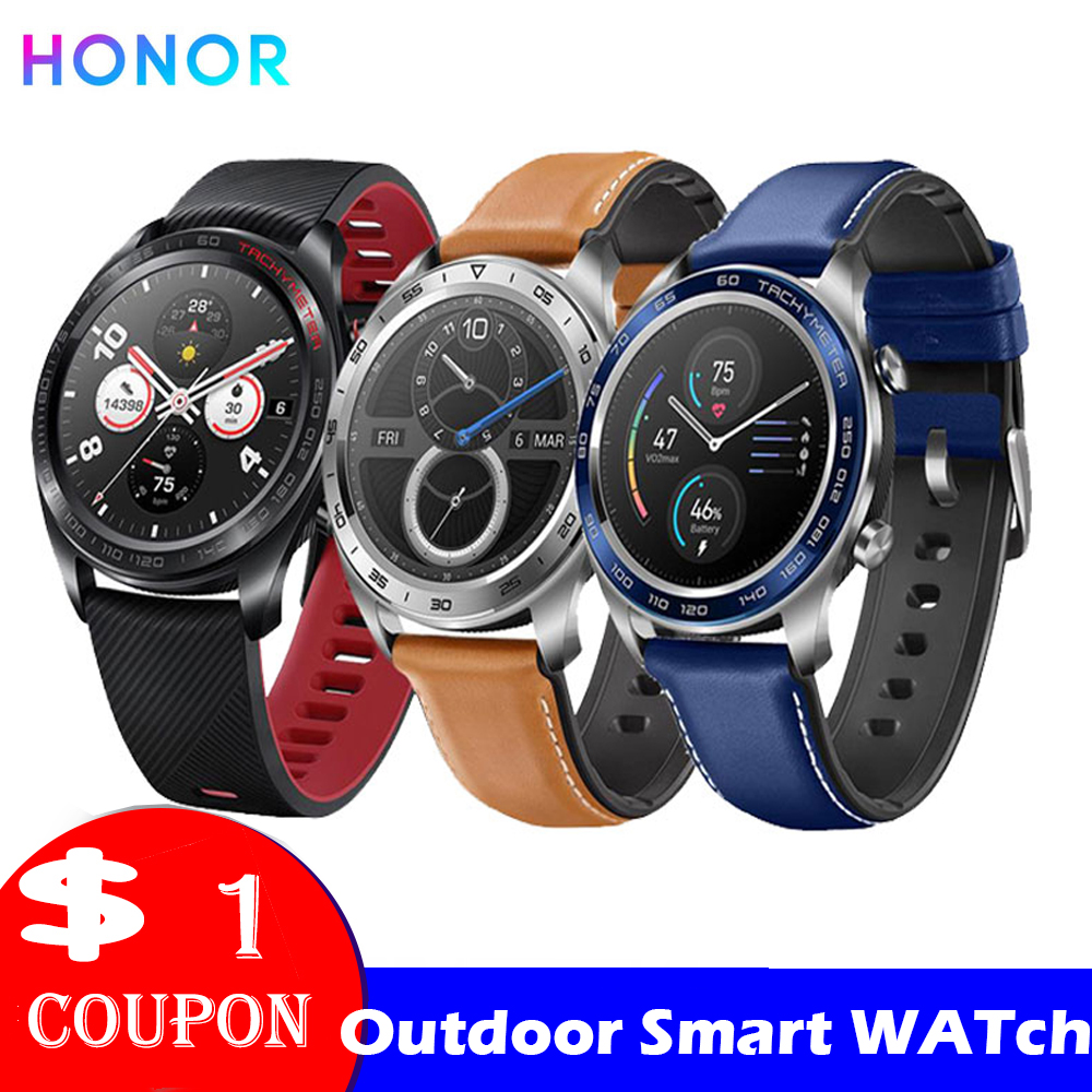 Honor Watch Magic SmartWatche Man Watch Heart Rate Sleep Pressure Monitoring Waterproof NFC Wearable Devices (Magic)
