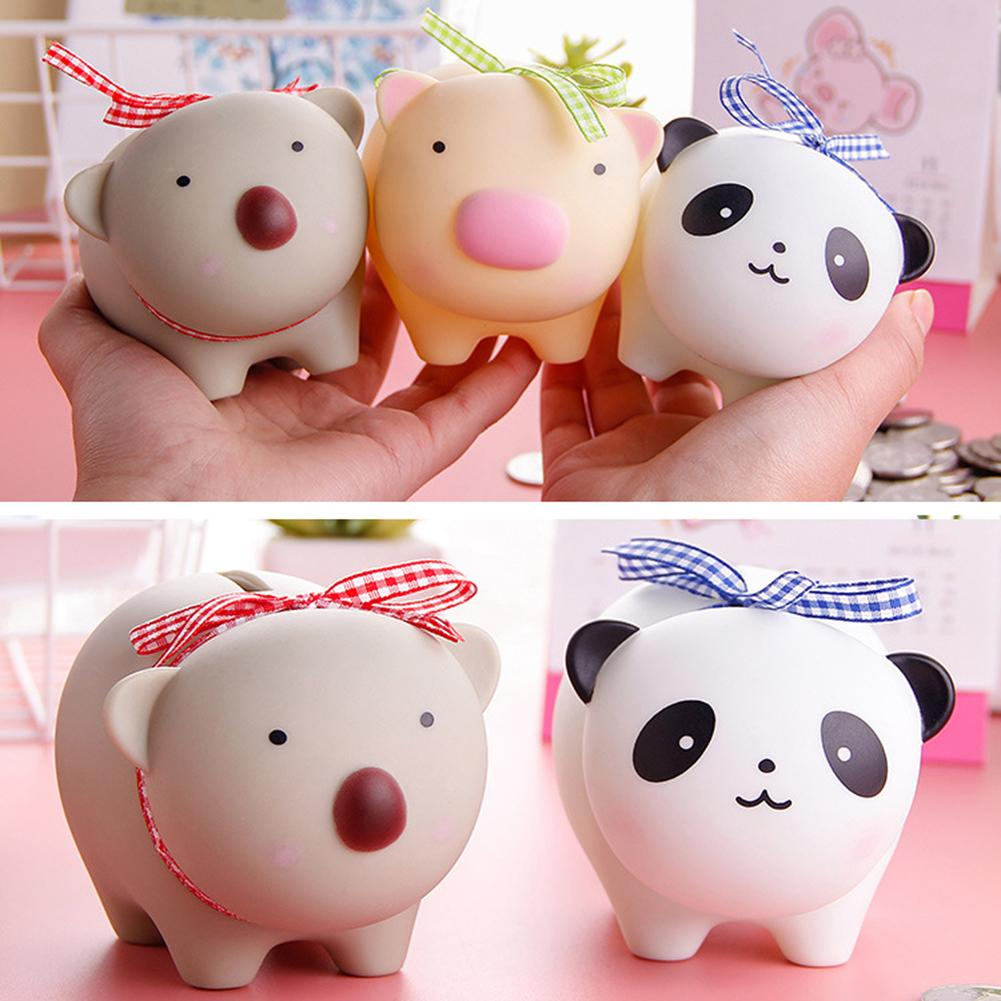 Kids Cute Panda Animal Piggy Bank Box Toys Treasure Money Coin Saving Game Money Table Decor Xmas Gift  For Children Kids
