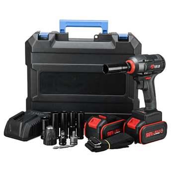 98V llave eléctrica sin escobillas llave de enchufe de impacto 16800mAh batería de Li herramientas eléctricas de instalación de taladro manual