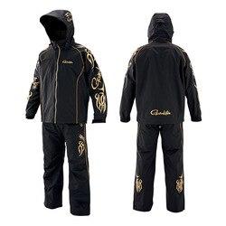 Nova gamakatsu à prova de vento à prova dwindproof água roupas pesca jaqueta e calças ao ar livre esportes camisas de pesca dos homens terno de pesca