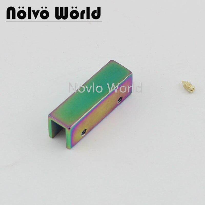 Wholesale 500pcs, 35 Mm, Rainbow Metal Side Clip Buckle Handbag Hanging Hook Strap Chain Clip With Screw Diy Accessories
