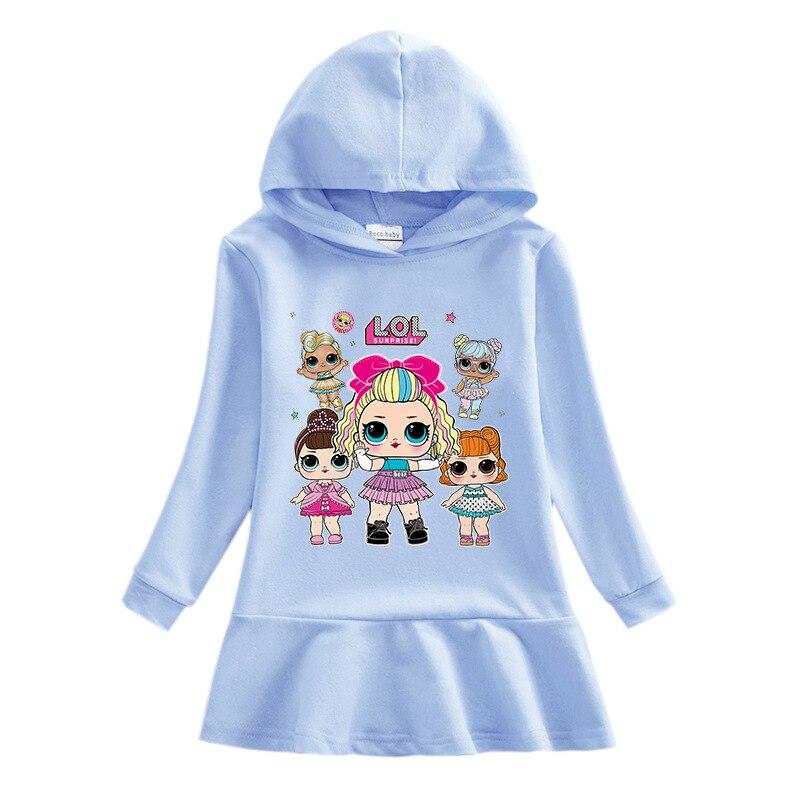 L.O.L. Сюрприз! Детское демисезонное платье с героями мультфильмов, детская одежда для девочек от 10 до 12, платья, платья для девочек, платья для ...