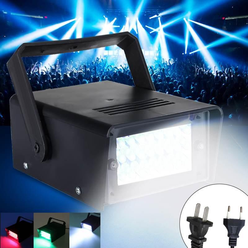 Mini 24LED 3W Red Stage Flashing Light Effect Lamp Strobe DJ Disco Club Party