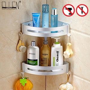 Image 1 - Bath Corner Shelf Bathroom Shower Shelf Nail free Shampoo Holder Shelves  Storage Shelf Rack Bathroom Basket Holder EL99