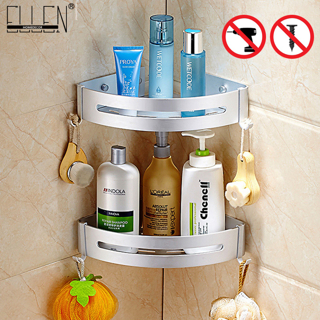 バスコーナー棚浴室のシャワー棚ネイル 【送料無料シャンプーホルダー棚収納棚ラック浴室バスケットホルダー EL99