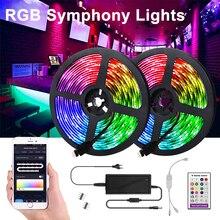 LED Light Strips WIFI Controller 5M/10M/15M Flexible RGB 5050 Decoration BackLight Lamp Night light Luminous String For Bedroom